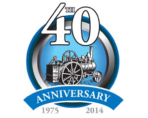 Henham Steam Rally Anniversary Logo